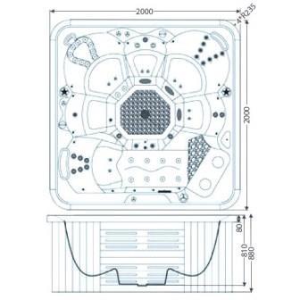 Гидромассажный бассейн IQUE Corsica
