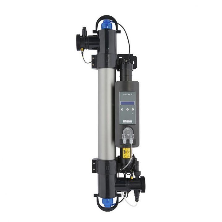 Ультрафиолетовая установка для бассейна Elecro Steriliser UV-C HRP-55-EU + DLife indicator + дозирующий насос